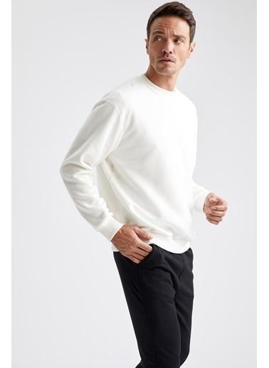 DeFacto Sweatshirt Beyaz